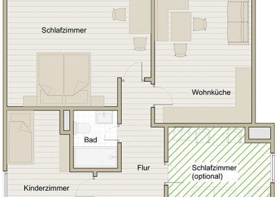 Balkonwohnung Hochgratblick Grundriss