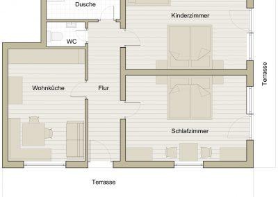 Terrassenwohnung Staufenblick Grundriss